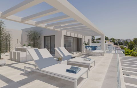 Cortijo del Golf: penthouses met verhuurdienst (New Golden Mile)