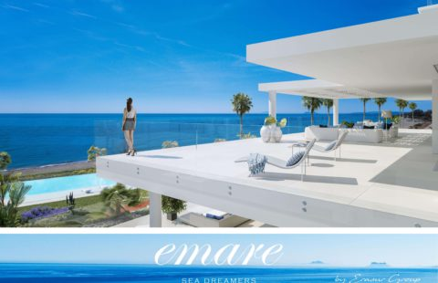 Emare: state of the art eerstelijns zee penthouses (New Golden Mile)