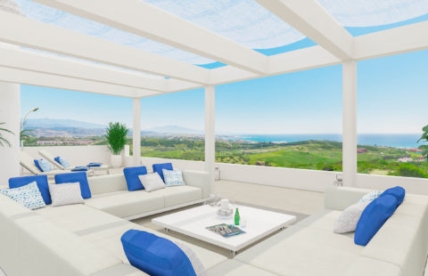 Las Terrazas de Cortesin Seaviews: golf resort penthouse (Finca Cortesin)