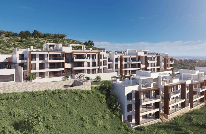alborada homes benahavis nieuwbouw appartementen penthouses zeezicht kopen kleinschalig