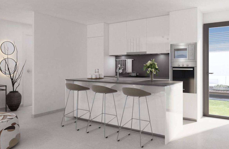 alborada homes benahavis nieuwbouw appartementen penthouses zeezicht kopen open keuken