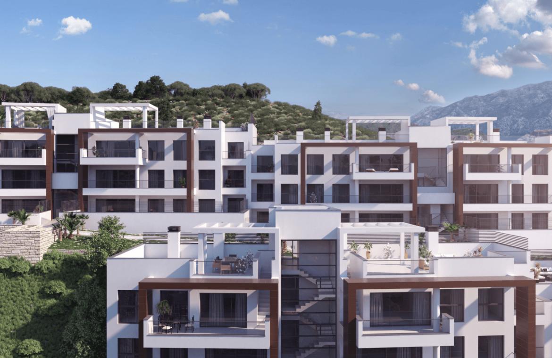 alborada homes benahavis nieuwbouw appartementen penthouses zeezicht kopen project