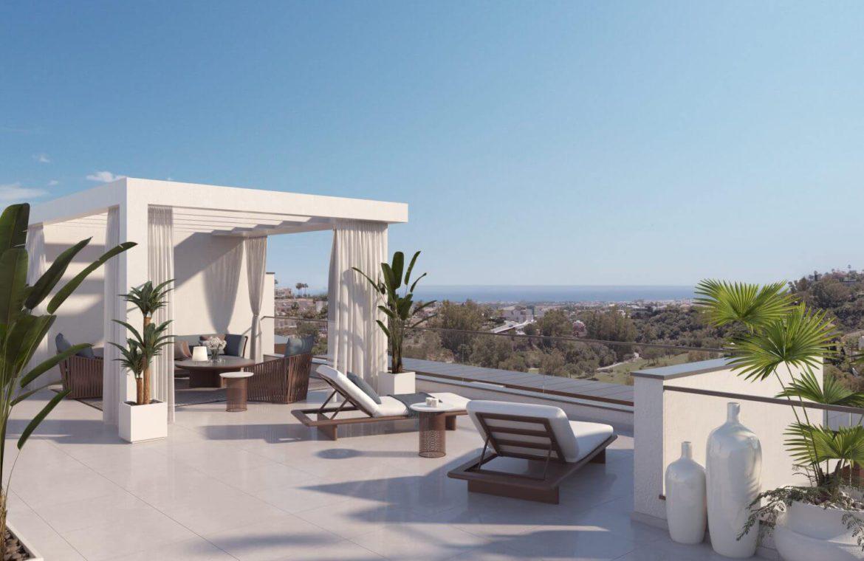 alborada homes benahavis nieuwbouw appartementen penthouses zeezicht kopen solarium