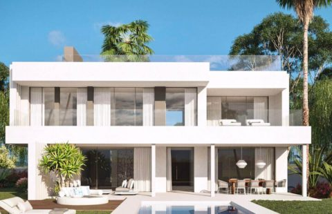 Antik Villas: kleinschalig modern villaproject met zeezicht (Cancelada)