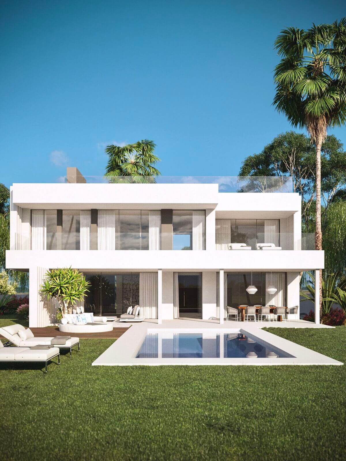 antik villas te koop cancelada new golden mile estepona tuin