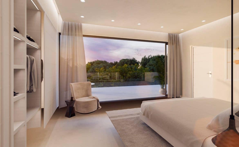 arboleda villa atalaya zicht slaapkamer