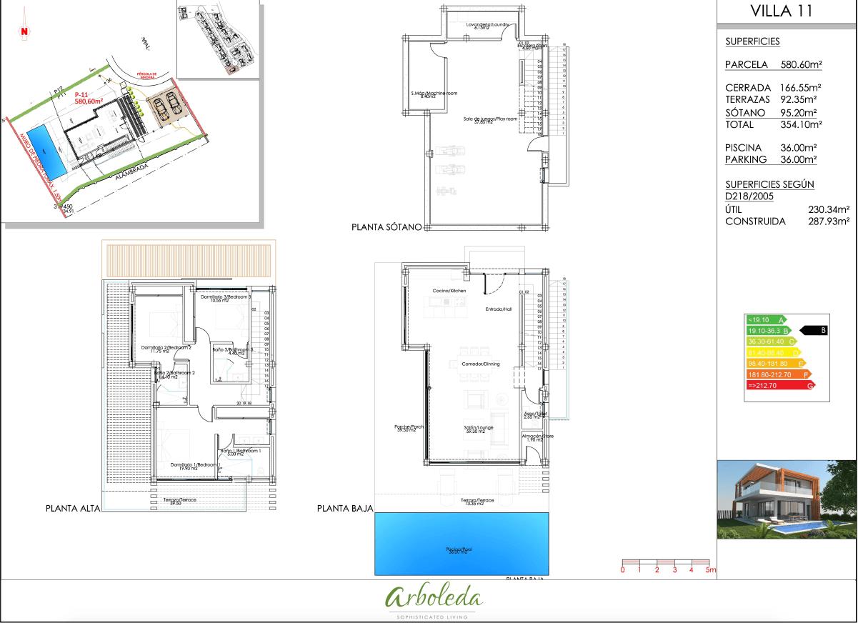 arboleda villa estepona plan 1