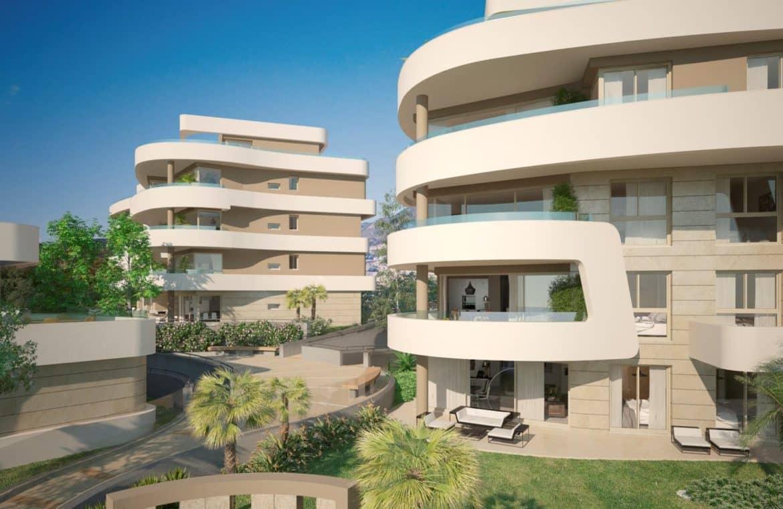 aria la cala de mijas eerstelijns zee appartement buitenkant