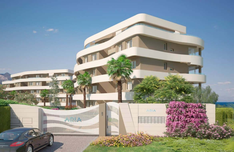 aria la cala de mijas eerstelijns zee appartement complex