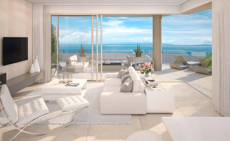 aria la cala de mijas eerstelijns zee appartement salon