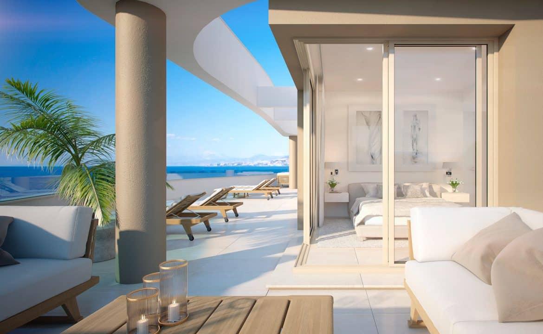 aria la cala de mijas eerstelijns zee appartement slaapkamer
