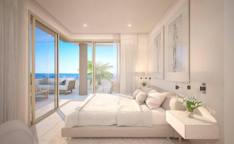 aria la cala de mijas eerstelijns zee appartement slaapkamer zicht