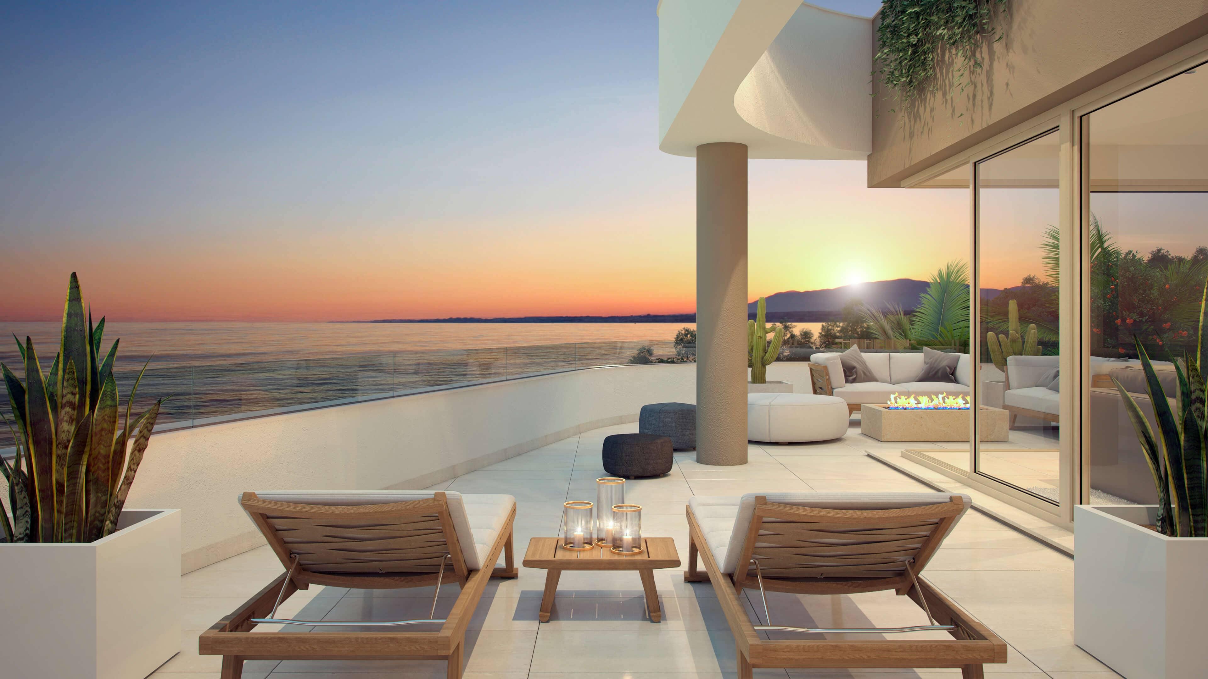 aria la cala de mijas eerstelijns zee appartement terras