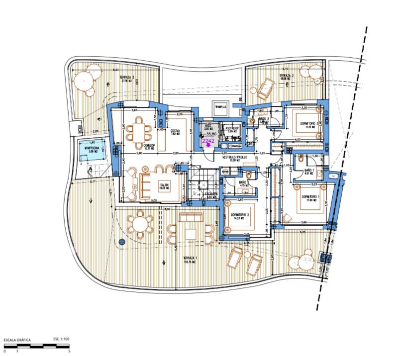 aria mijas grondplan penthouse