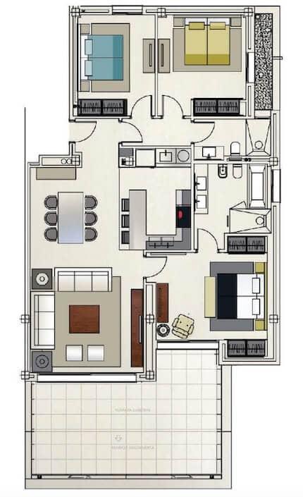 azahar 1ste Verdieping 3 bed