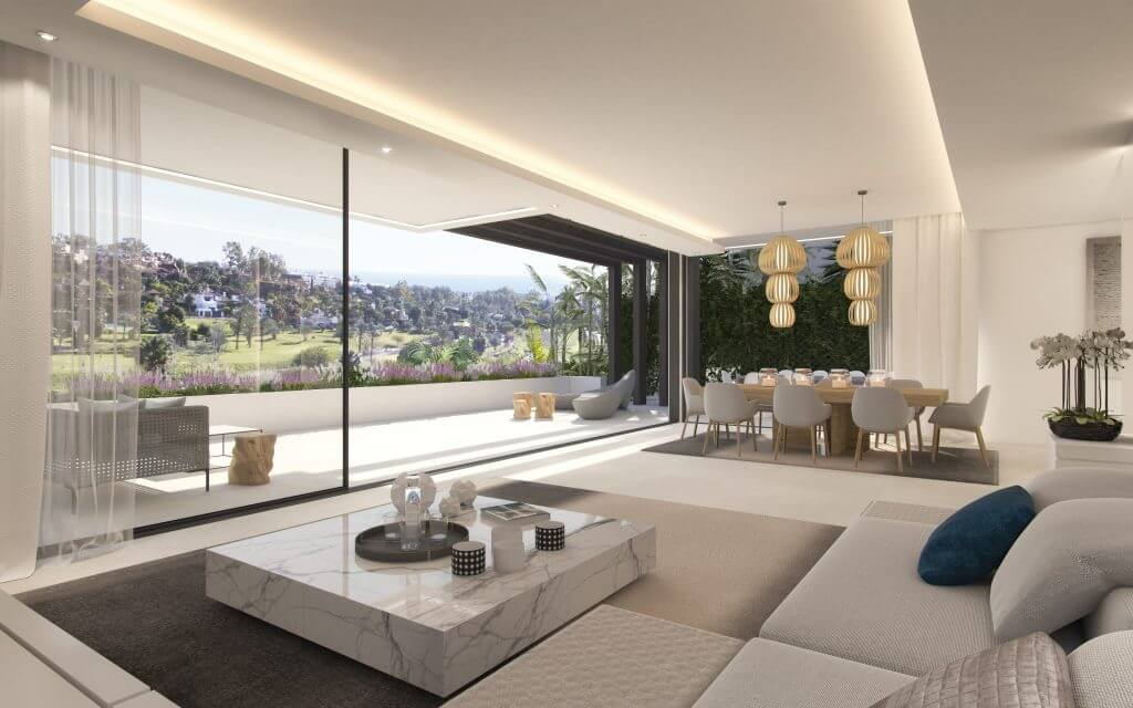 belfry moderne villa estepona new golden mile zeezicht wandelafstand strand marbella huis kopen living