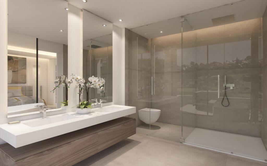 Luxe Villa Badkamer : Luxe badkamer met eiken houten look badkamers voorbeelden
