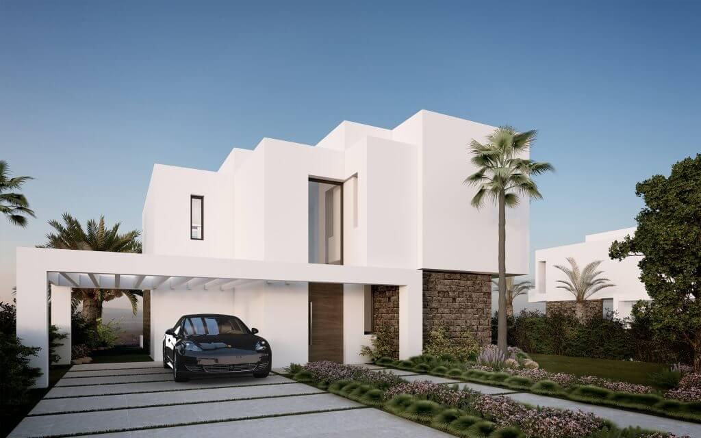 belfry moderne villa estepona new golden mile zeezicht wandelafstand strand marbella te koop huis gevel