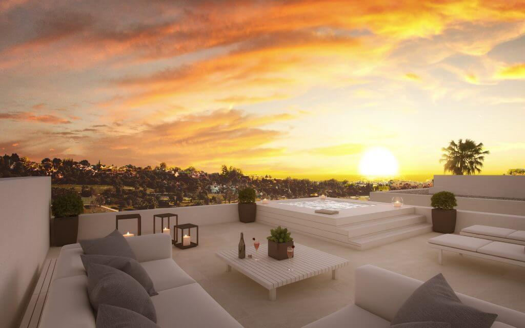 belfry moderne villa estepona new golden mile zeezicht wandelafstand strand marbella te koop huis solarium avond