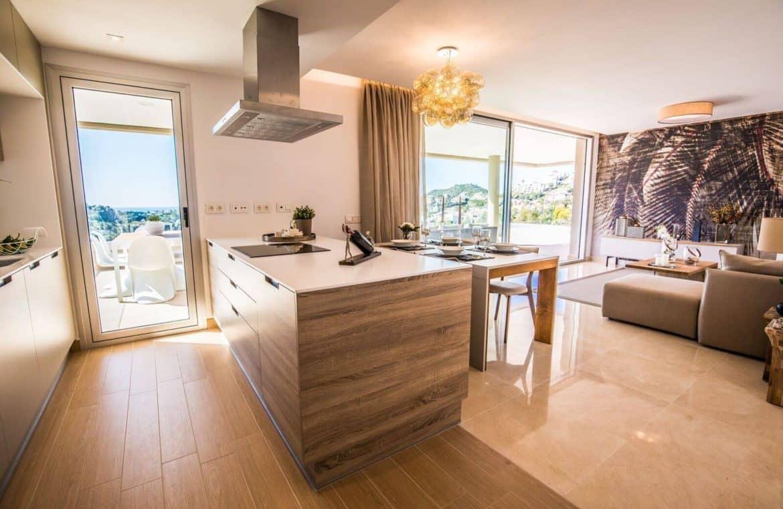 botanic taylor wimpey appartement penthouse los arqueros benahavis zeezicht golf living