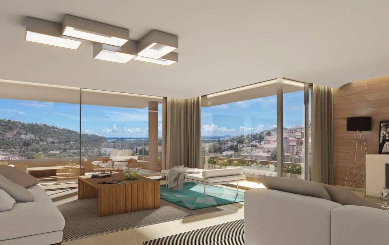 botanic taylor wimpey appartement penthouse los arqueros benahavis zeezicht golf living2