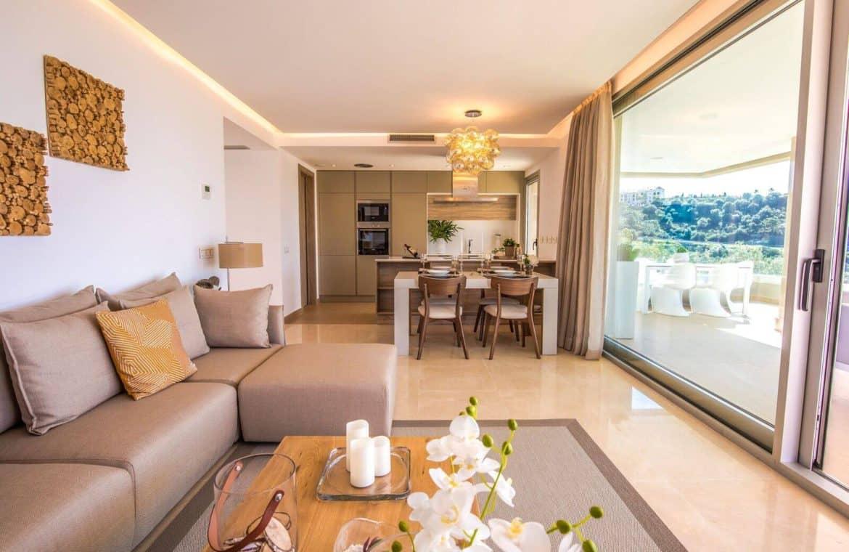 botanic taylor wimpey appartement penthouse los arqueros benahavis zeezicht golf living3