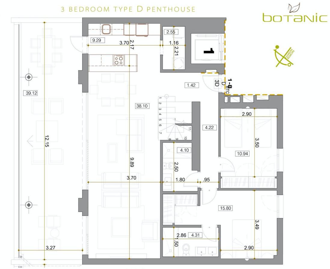 botanic taylor wimpey appartement penthouse los arqueros benahavis zeezicht golf plan6