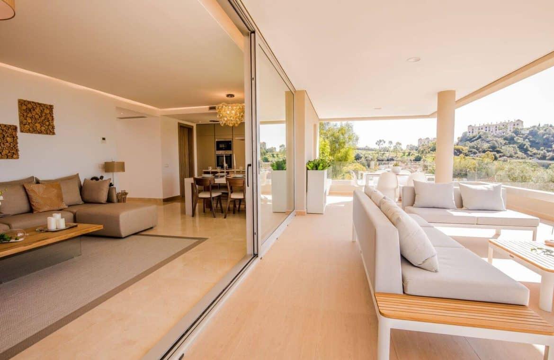 botanic taylor wimpey appartement penthouse los arqueros benahavis zeezicht golf terras living