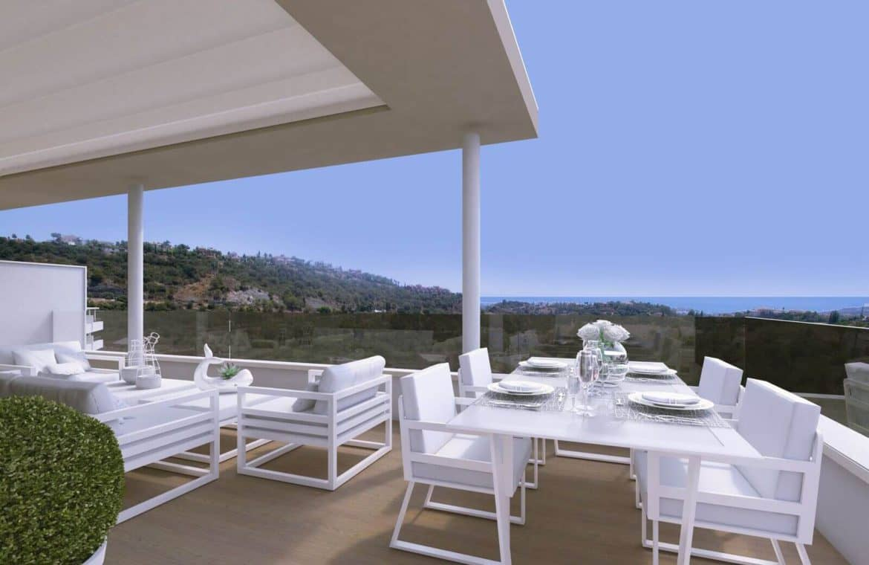 botanic taylor wimpey appartement penthouse los arqueros benahavis zeezicht golf terras zithoek