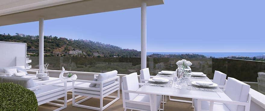 botanic taylor wimpey appartement penthouse los arqueros benahavis zeezicht golf terras