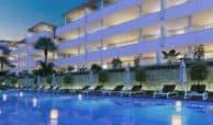 botanic taylor wimpey appartement penthouse los arqueros benahavis zeezicht golf zwembad avond