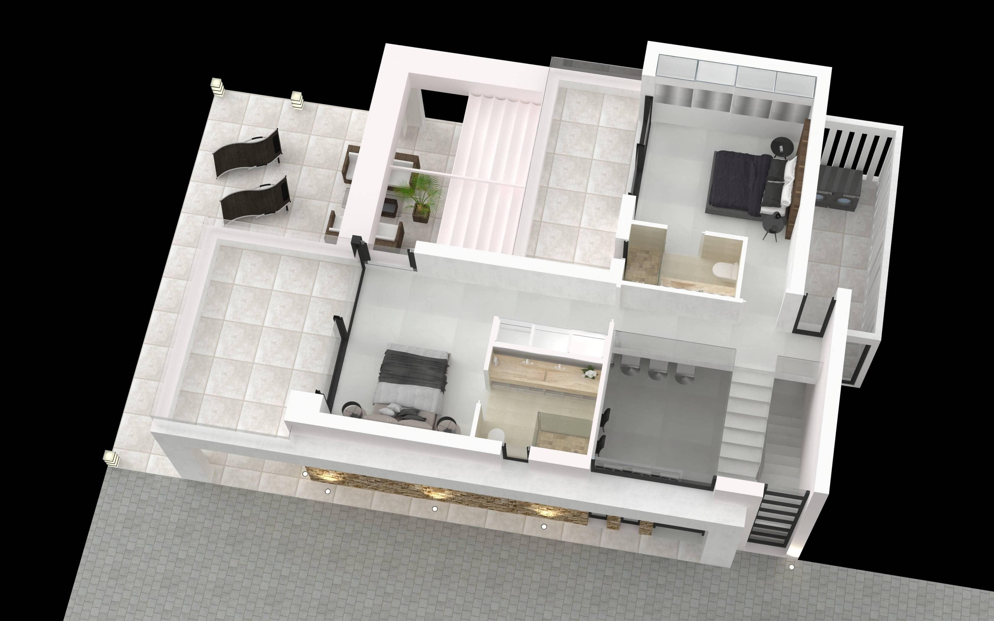 buena vista hills villas te koop B plan verdieping