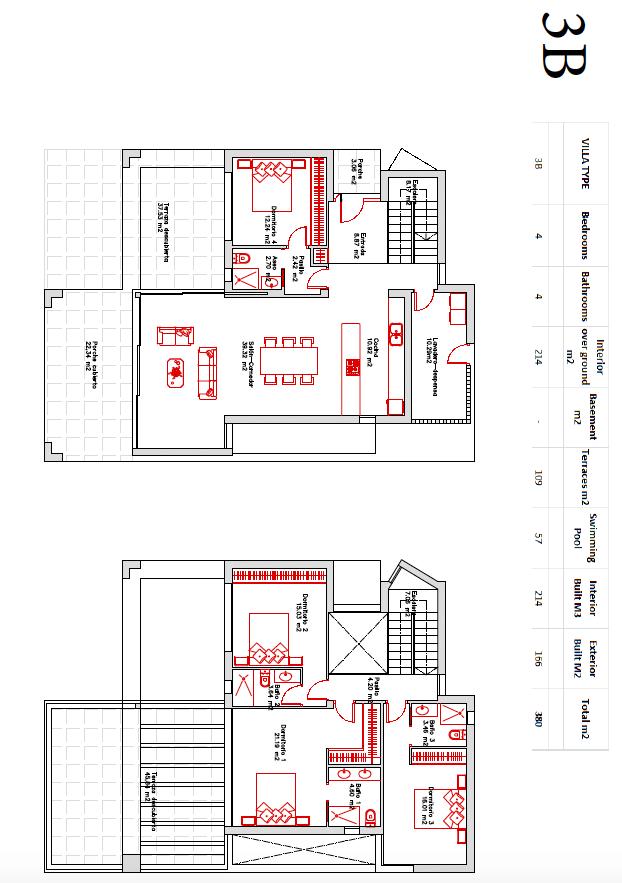 buena vista hills villas te koop grondplan 3b