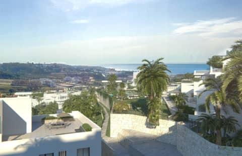 Casa Banderas: goed gelegen penthouses met zeezichten (Mijas)
