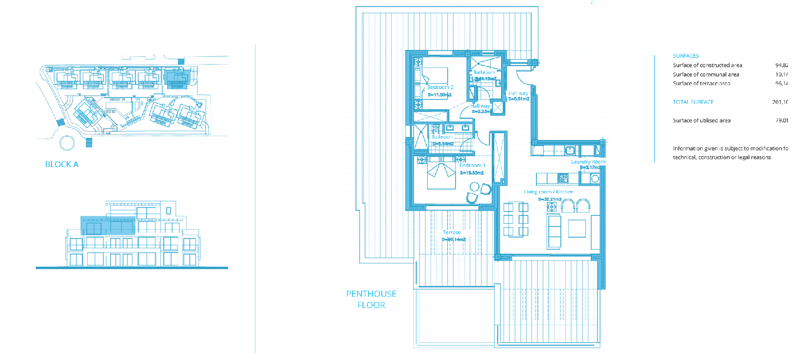 cortijo del golf plan slaapkamers 2 penthouse