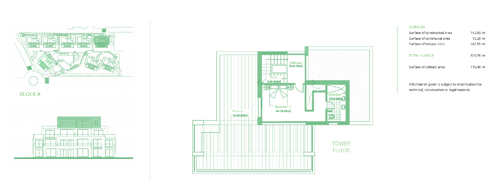 cortijo del golf plan slaapkamers 3 penthouse duplex