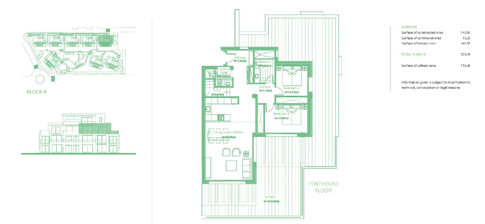 cortijo del golf plan slaapkamers 3 penthouse