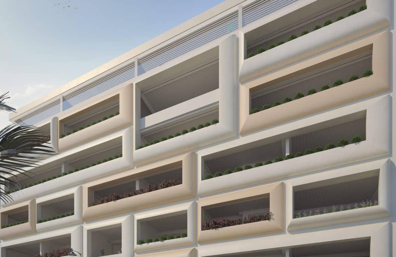 darya estepona eerstelijns zee appartement gebouw