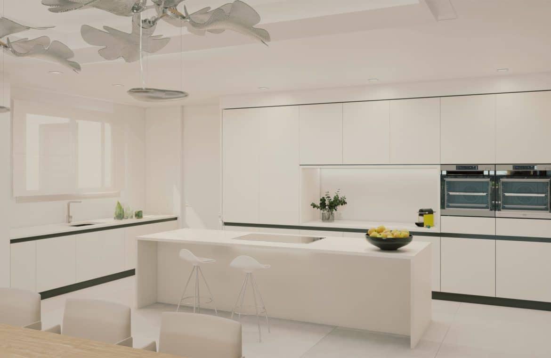 darya estepona eerstelijns zee appartement keuken