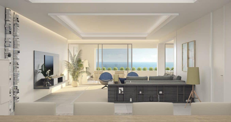 darya estepona eerstelijns zee appartement salon detail