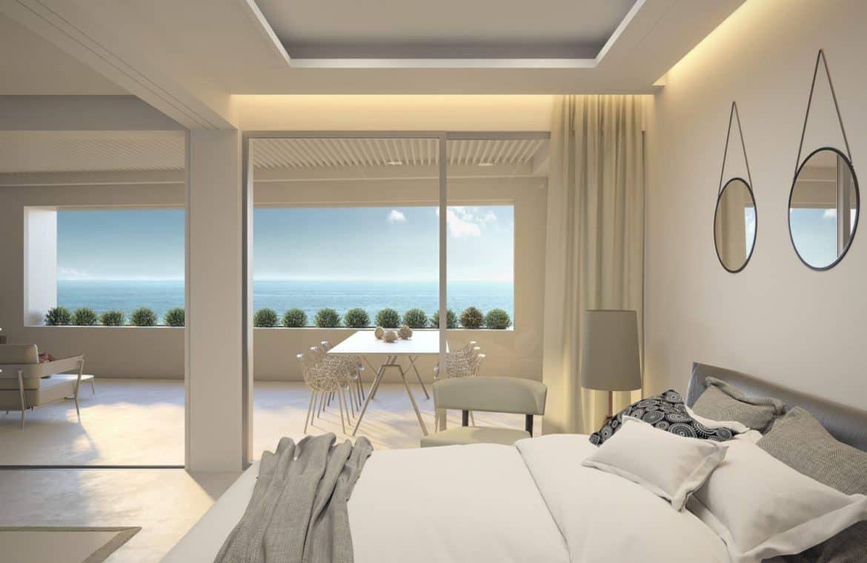 darya estepona eerstelijns zee appartement slaapkamer
