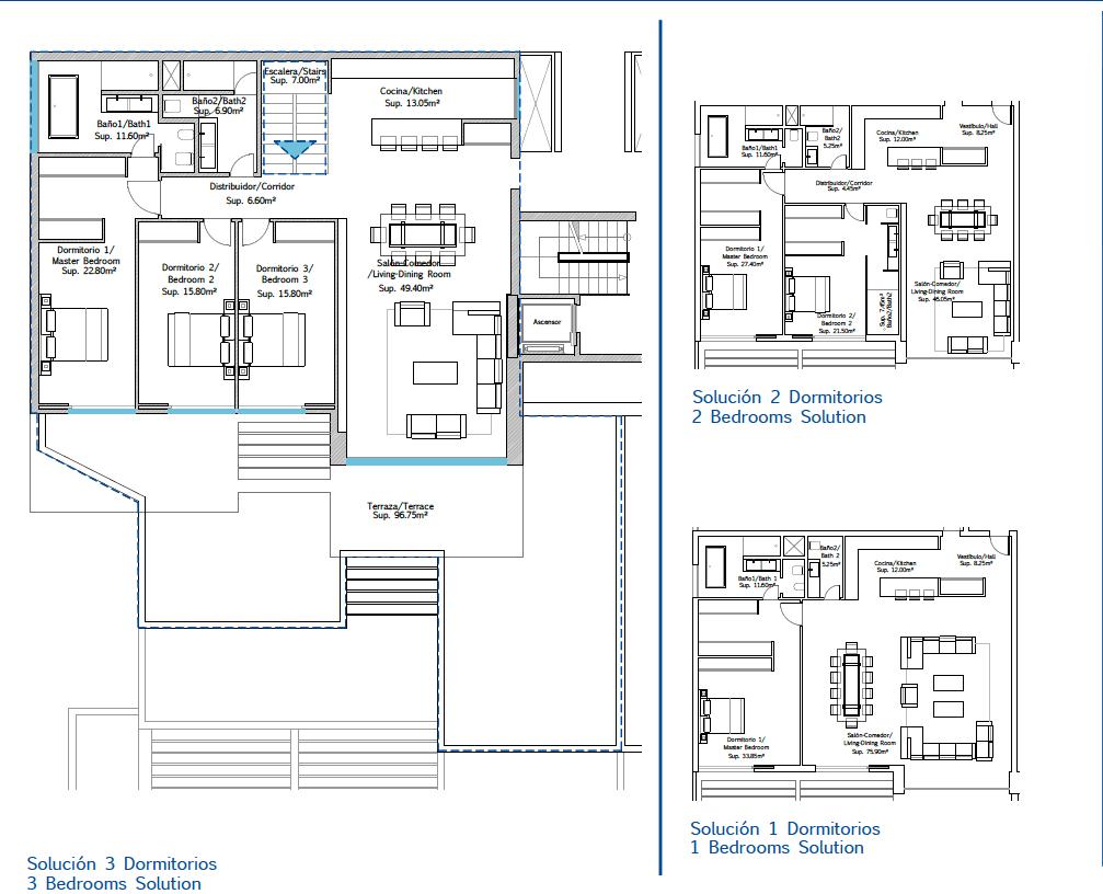 fusionvista new golden mile estepona grondplan penthouse
