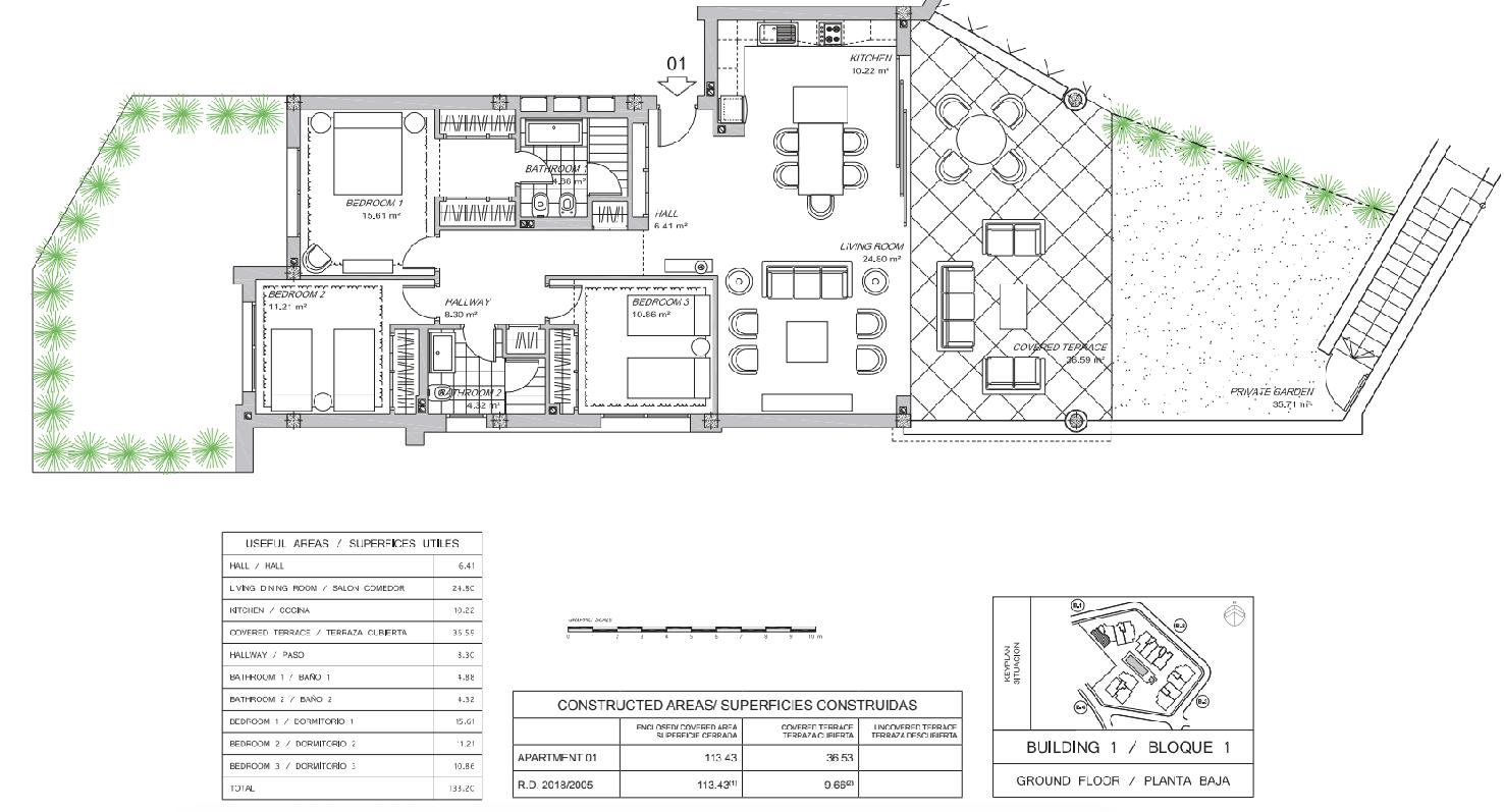 gelijkvloers 3 slaapkamers