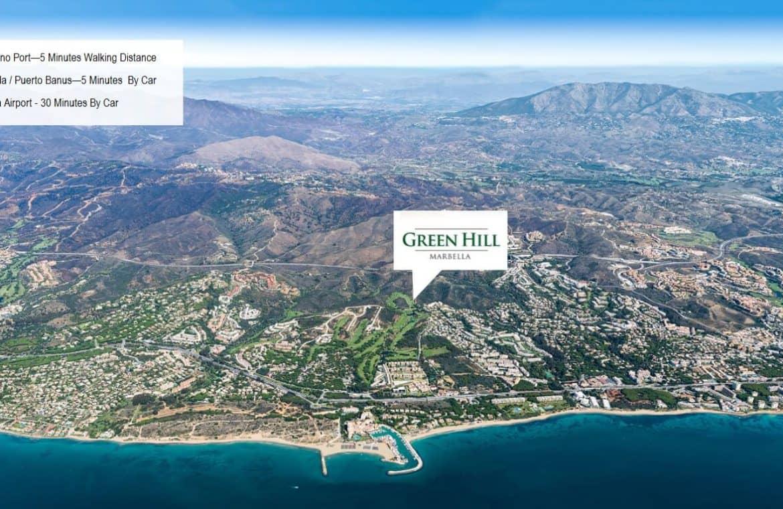 green hill cabopino villas oost marbella locatie