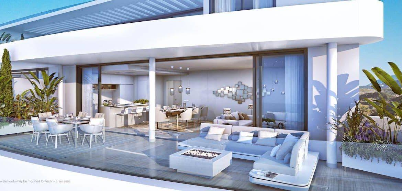 higueron west appartement penthouse huis kopen zeezicht terras living