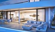 higueron west appartement penthouse te koop zeezicht huis avond
