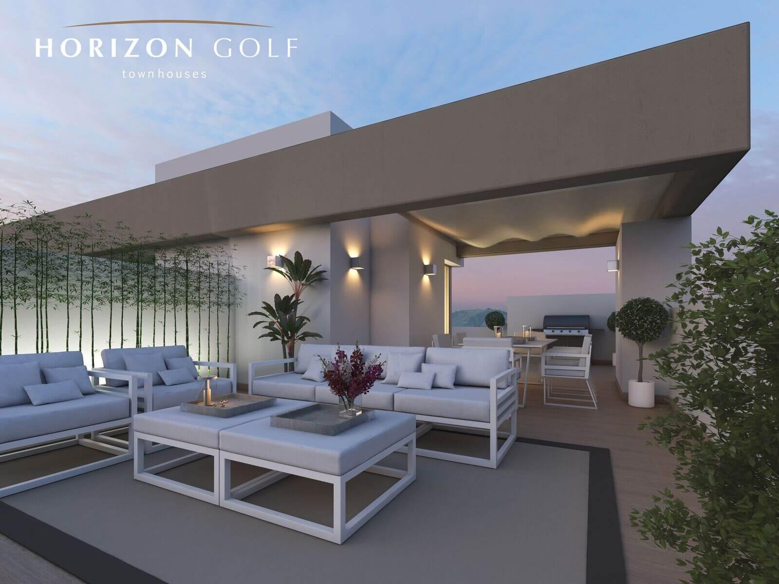 horizon golf la cala mijas huis dakterras salon