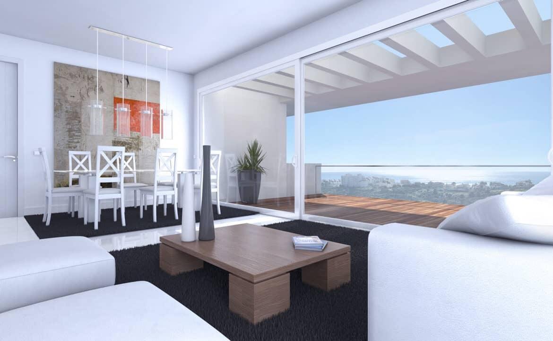 ikasa scenic estepona appartement penthouse wandelafstand haven zeezicht living eethoek