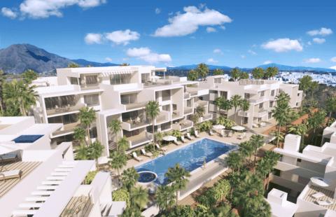 Scenic: nieuwbouw appartementen met frontaal zeezicht (Estepona)