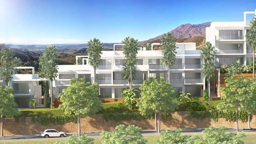 ikasa scenic estepona appartement penthouse wandelafstand haven zeezicht vooraanzicht